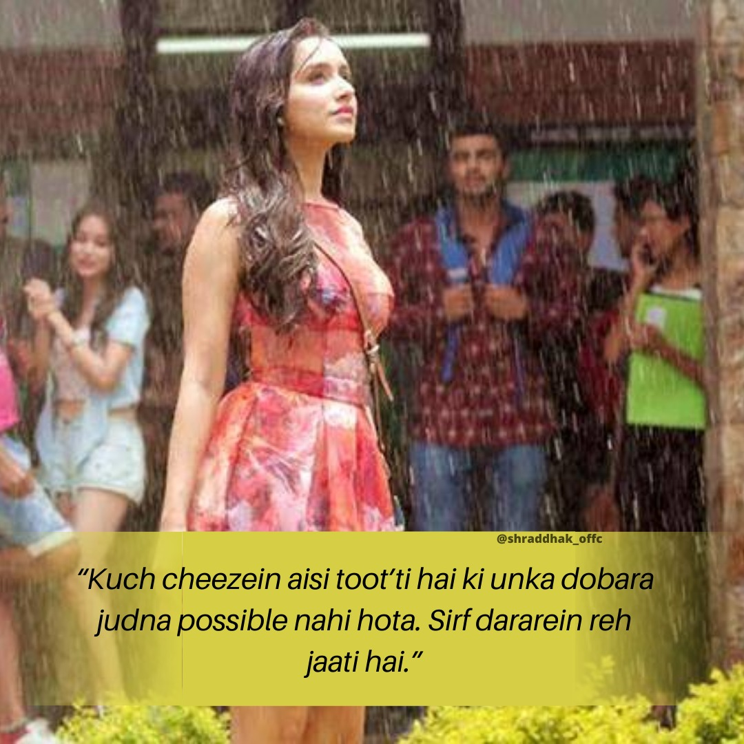 This dialogue ❤️ so true  @shraddhakapoor  . . #shraddhakapoor #dialogue