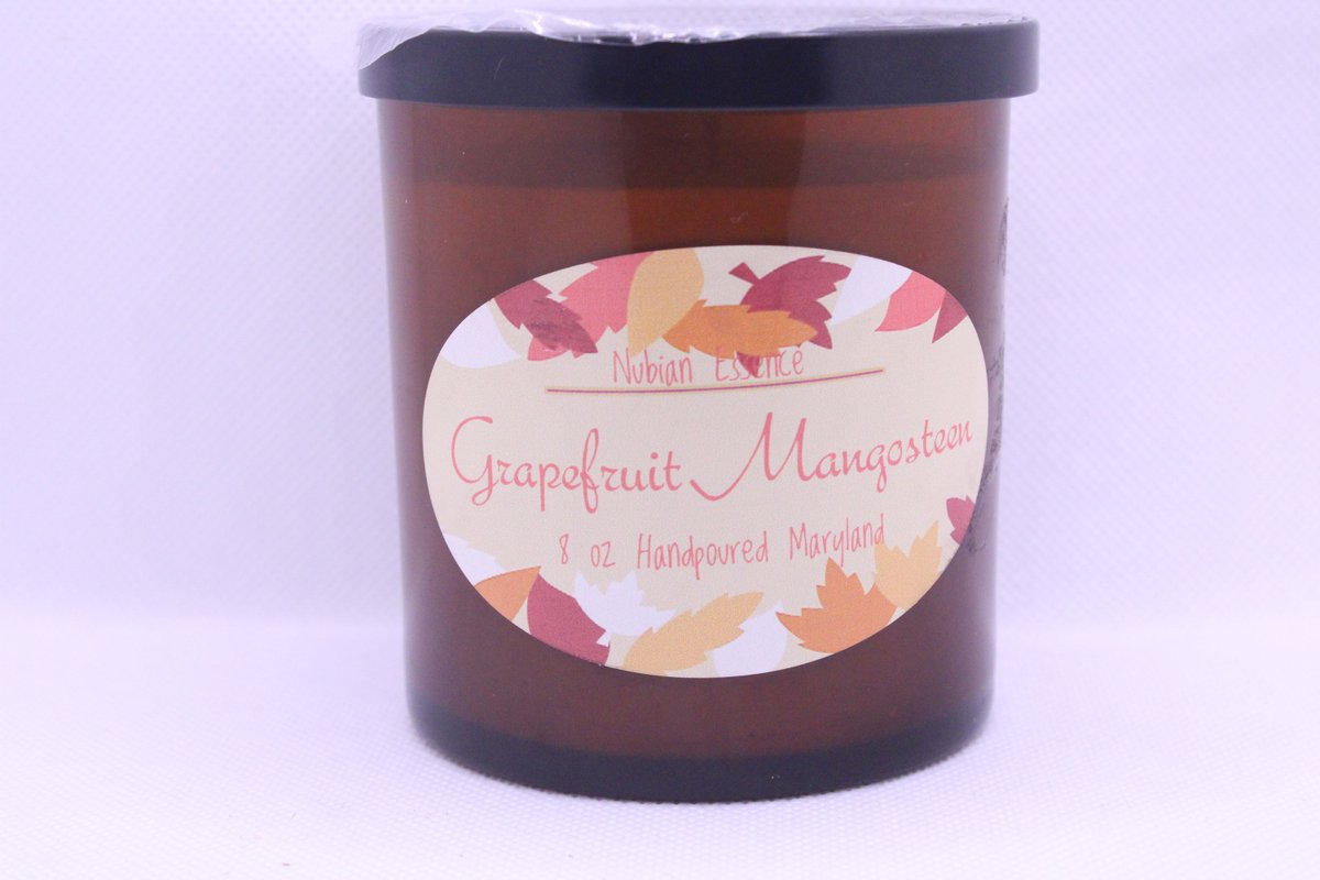 Excited to share the latest addition to my #etsy shop: Grapefruit and Mangosteen  #white #bridalshower #soy #thanksgiving #entryway #squar #blackownedbusiness #8oz #soywaxcandles