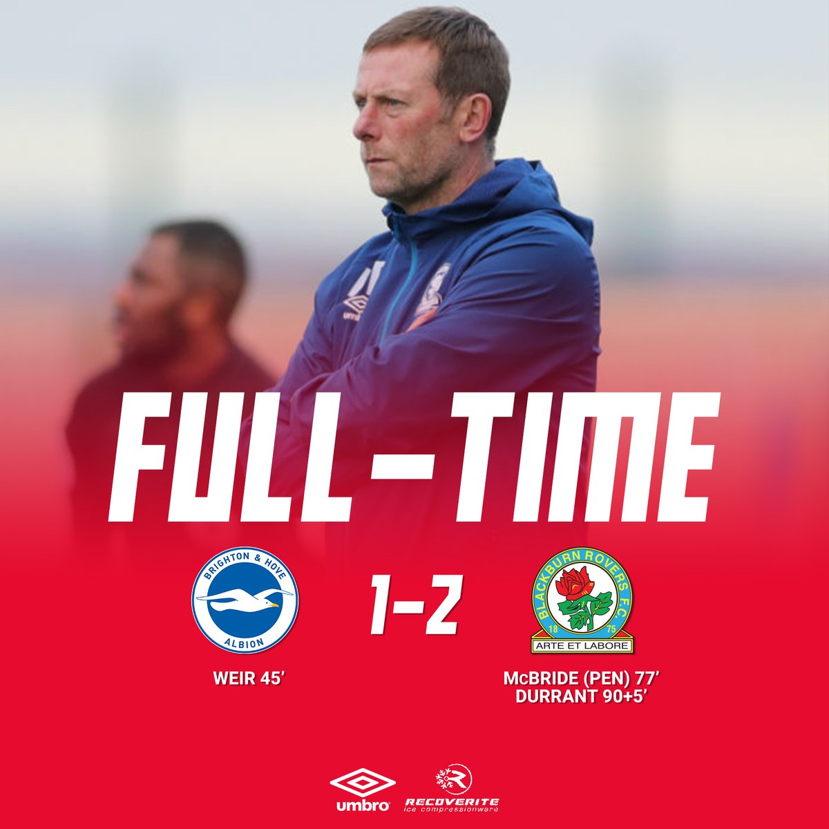 ⏱️ FT: #BHAFC 1-2 #Rovers  Drama right at the very end sees Sam Durrant net a 90th minute winner!  Get in there!  🔵⚪️