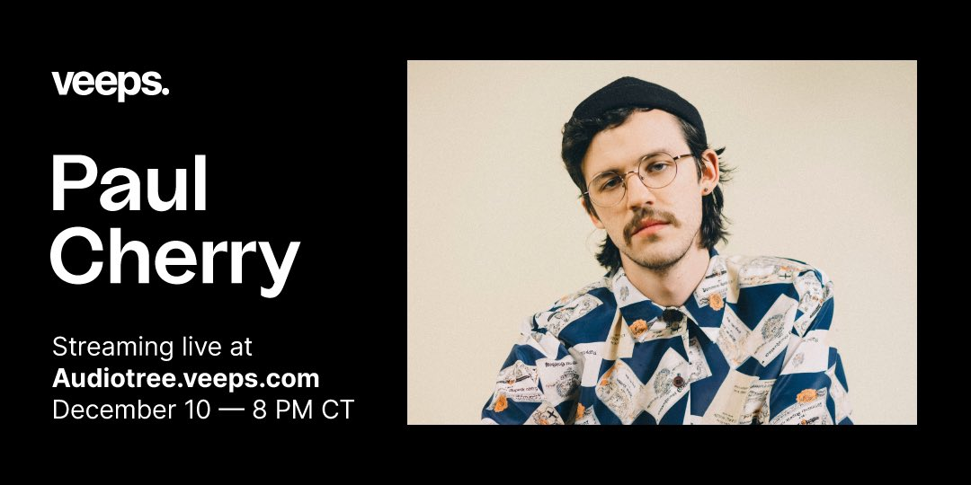 Next up on @audiotreemusic's STAGED concert series: @paulcherry69 performs live at @Schubas on December 10th. Early bird tickets on sale now!