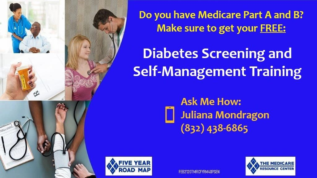 Do you have Medicare Part A and B? Make sure to get your FREE Diabetes Screening and Self-Management Training. #Medicare #HealthInsurance #PreventiveServices #PasadenaHealthCenter #5ELEMENTS #YourLocalAgent