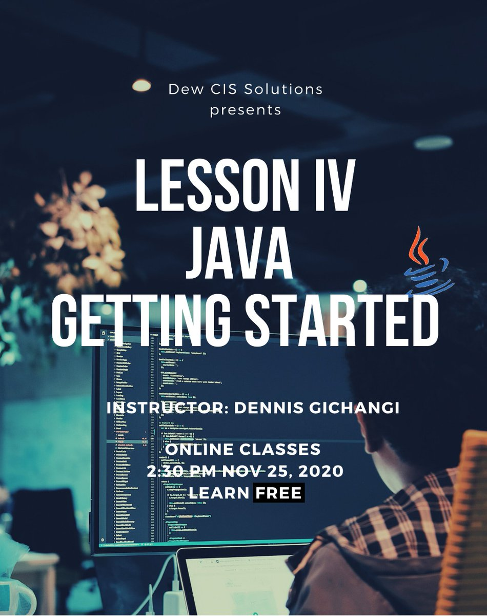 learning never stops.....Join our free online Java classes every Wednesday 2:30 PM EAT and acquire new skills. Don't be left out click the link below to join https://t.co/LtKX3dRb5w #java #learning  #programming  #freeclasses https://t.co/cD9wnUjA2g