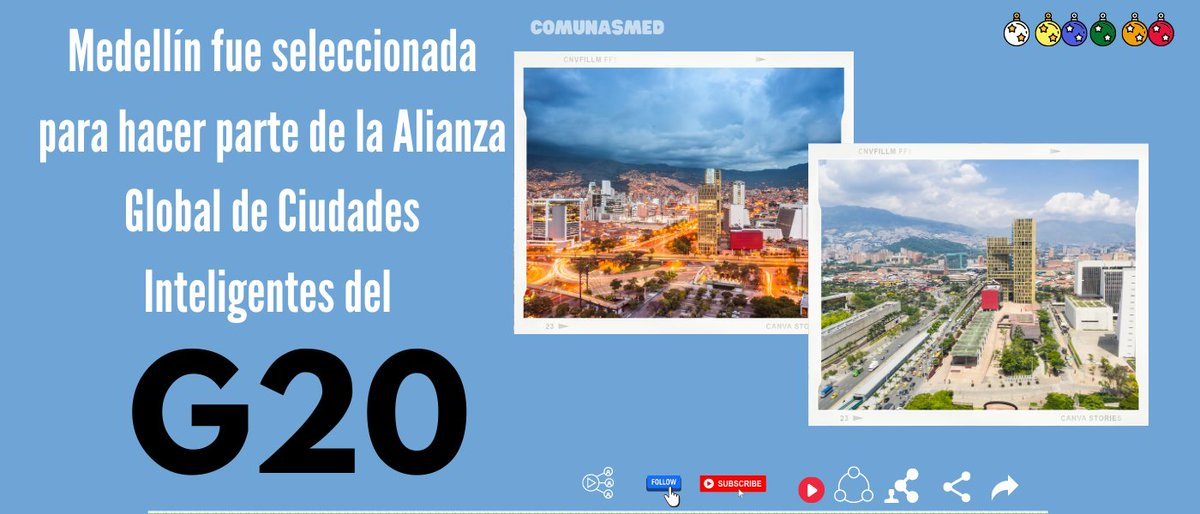 #Medellín fue seleccionada para hacer parte Global de #Ciudades #Inteligentes del #G20 El  Centro para la Cuarta Revolución Industrial de Colombia, afiliado al Foro Económico Mundial,  @Sebastian_TIC  @javierdarioferl https://t.co/muwwgRWOts