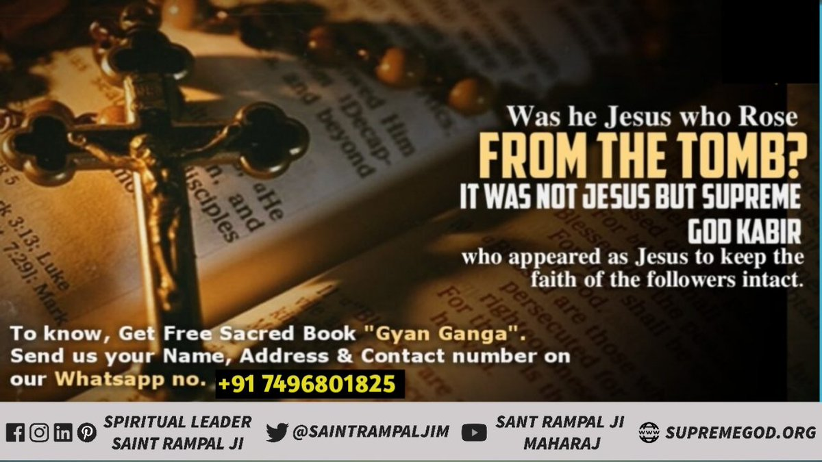 #MondayMotivation  Genesis Holy Bible  God is in form as he talks, walks, meets, eats and can be seen. Genesis 3:8  That evening they heard the Lord God walking in the garden and they hid from him among the trees. @SaintRampalJiM  Watch Sadhna tv-7:30pm