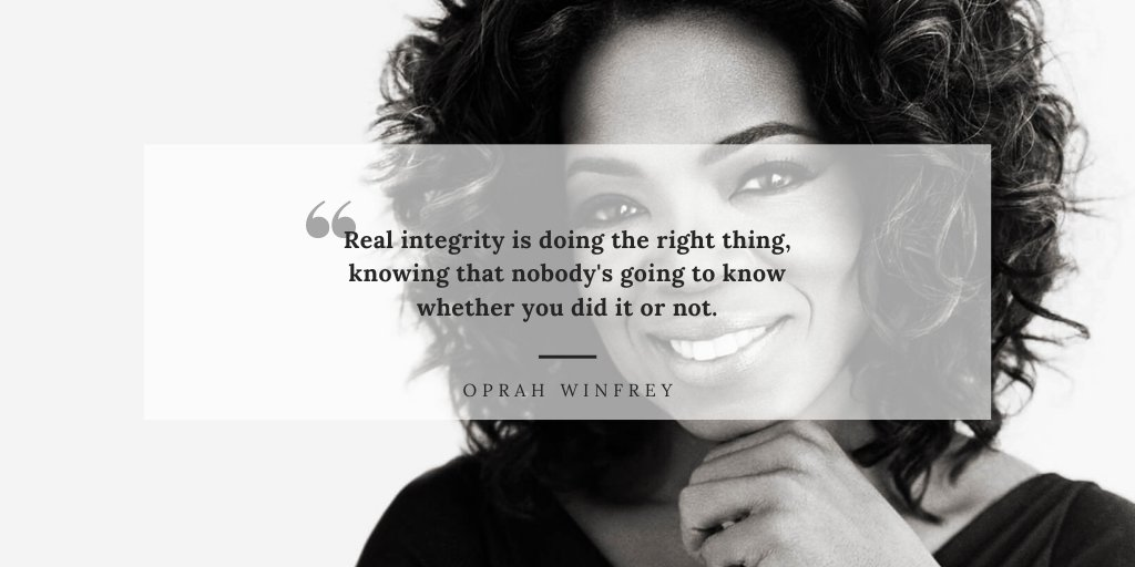 #mondaymotivation #motivation #oprahwinfrey #integrity