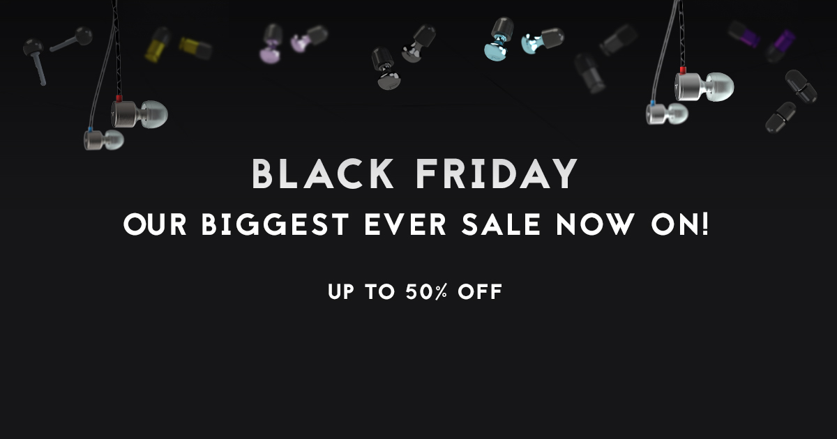 Our BIGGEST Black Friday Sale is NOW ON!! 50% off all earplugs and 30% off all earphones!  💞👂🎧 https://t.co/dD7vkTIXCu https://t.co/CkkP5rVjAR