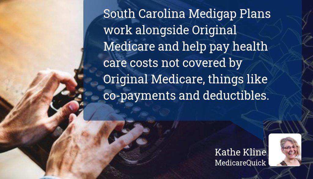 South Carolina Medigap plans are different from Original Medicare (Part A and Part B) and Medicare Advantage plans.  Read more 👉   #Boomer #Medicare #GeneralMedicareInformation