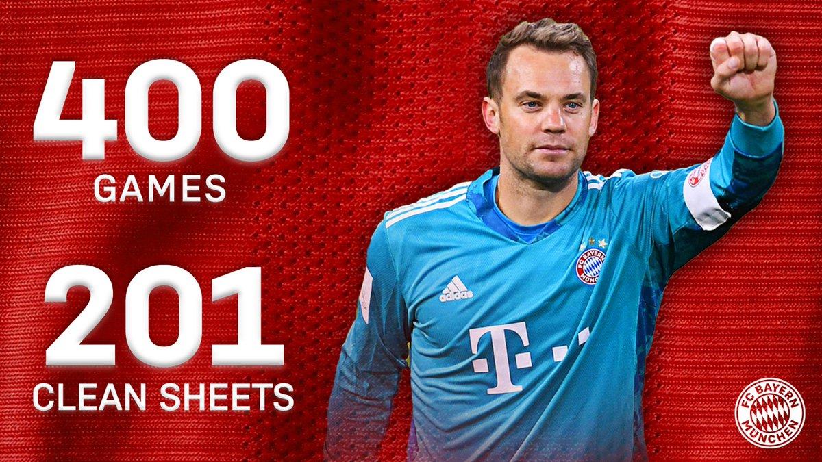 🐐 @Manuel_Neuer has kept a clean sheet in more than half of his 400 games 👏   #MiaSanMia #NeuerTheWall
