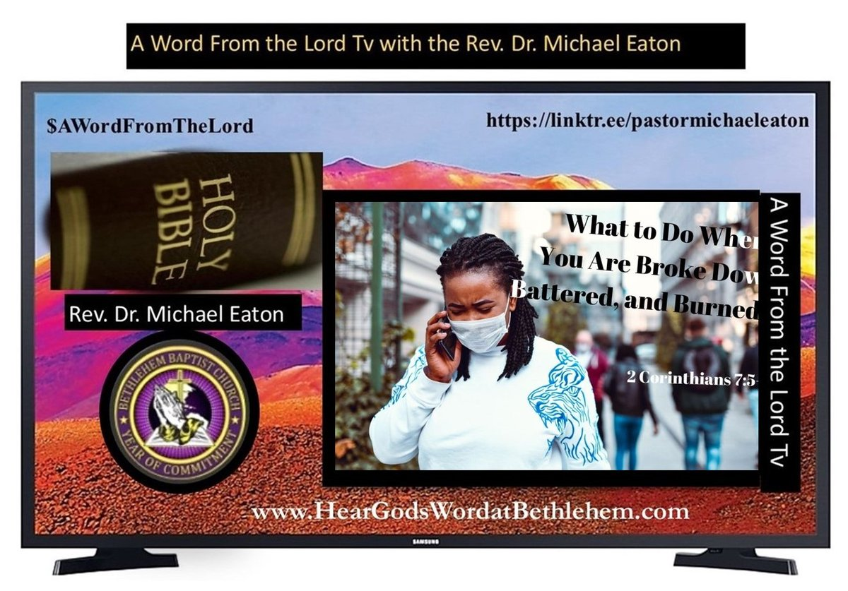 "#MondayMotivation. If you missed or if you would like review this Weekend's A Word From The Lord Tv entitled, ""What to Do When You Are Broke Down, Battered, and Burned Out."" View now@"