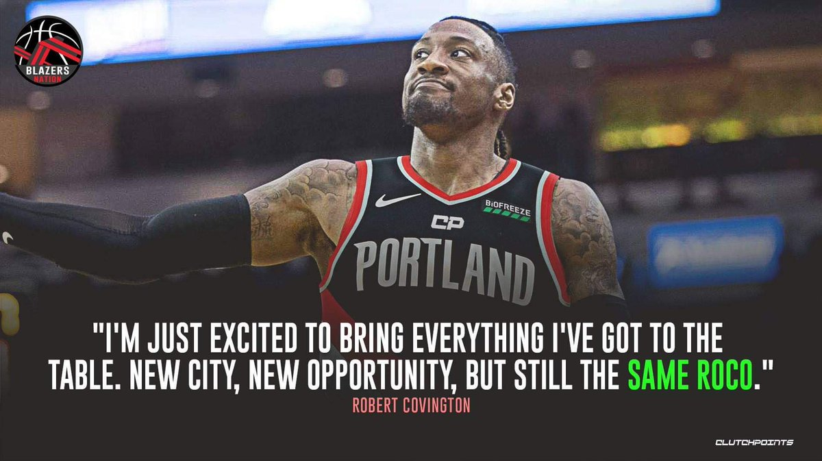Replying to @BlazersNationCP: Can't wait to see you in action with our Blazers, RoCo 👌