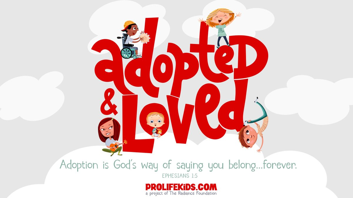 #Adoption is God's way of saying you belong forever. 🥰 Get the poster version of this at  for only $5 for #NationalAdoptionMonth.  #MondayMotivaton #MondayThoughts #AdoptedAndLoved