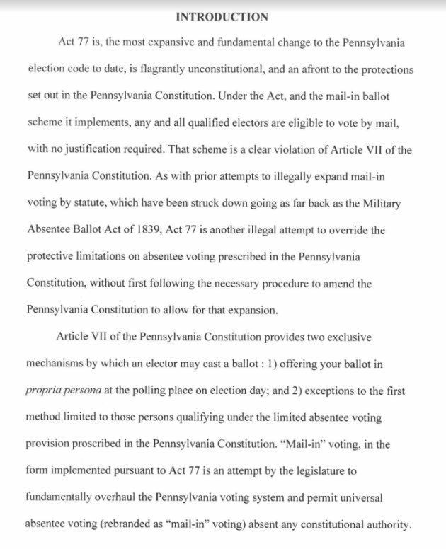 @julianrouth @PittsburghPG - Kelly et al. filed a motion yesterday for an emergency injunction blocking PA from certifying election results, but the timing of this case (re: a law passed in October 2019) is likely to be a major barrier in convincing a court it must act ASAP