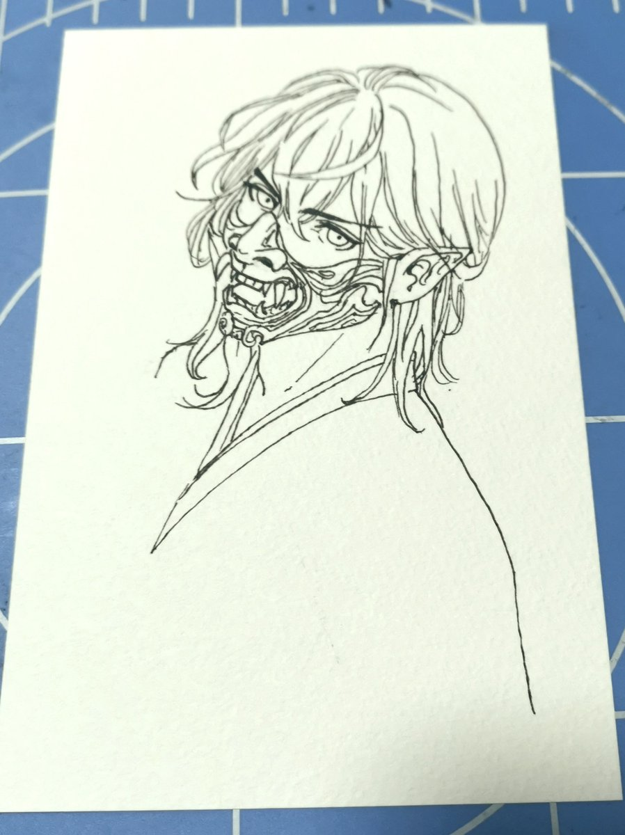 Wip Struggled with masks and heads for awhile orz  #inktober2020 #Inktober #WIP #mask https://t.co/DSYae8RmJa