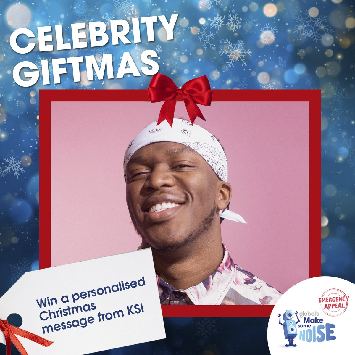 Know someone that would 𝘙𝘦𝘢𝘭𝘭𝘺 𝘓𝘰𝘷𝘦 a #CelebrityGiftmas personalised video message none other than @KSI? Get involved... 👀 🎁