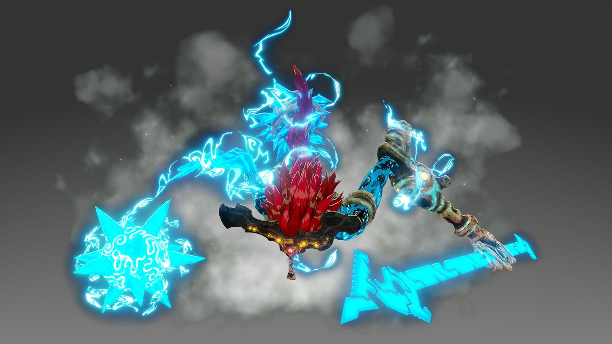 Nintendo Of America On Twitter The Scourges Of Calamity Ganon Bring Their Corruption To Hyrulewarriors Age Of Calamity The Powerful Waterblight Ganon Attacks Divine Beast Vah Ruta And Mipha With Increased Ranged