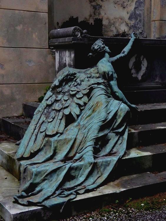 Cemetery sculptures.