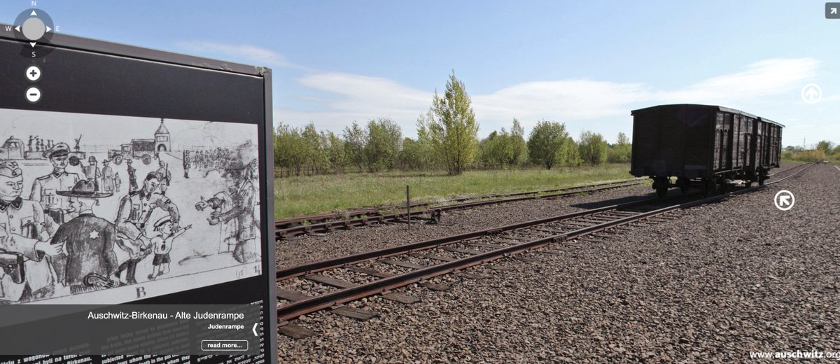 The selection took place at the so-called Alte Judenrampe located between Auschwitz I and Auschwitz II-Birkenau. See this place in our virtual visit: panorama.auschwitz.org/tour3,3105,en.…