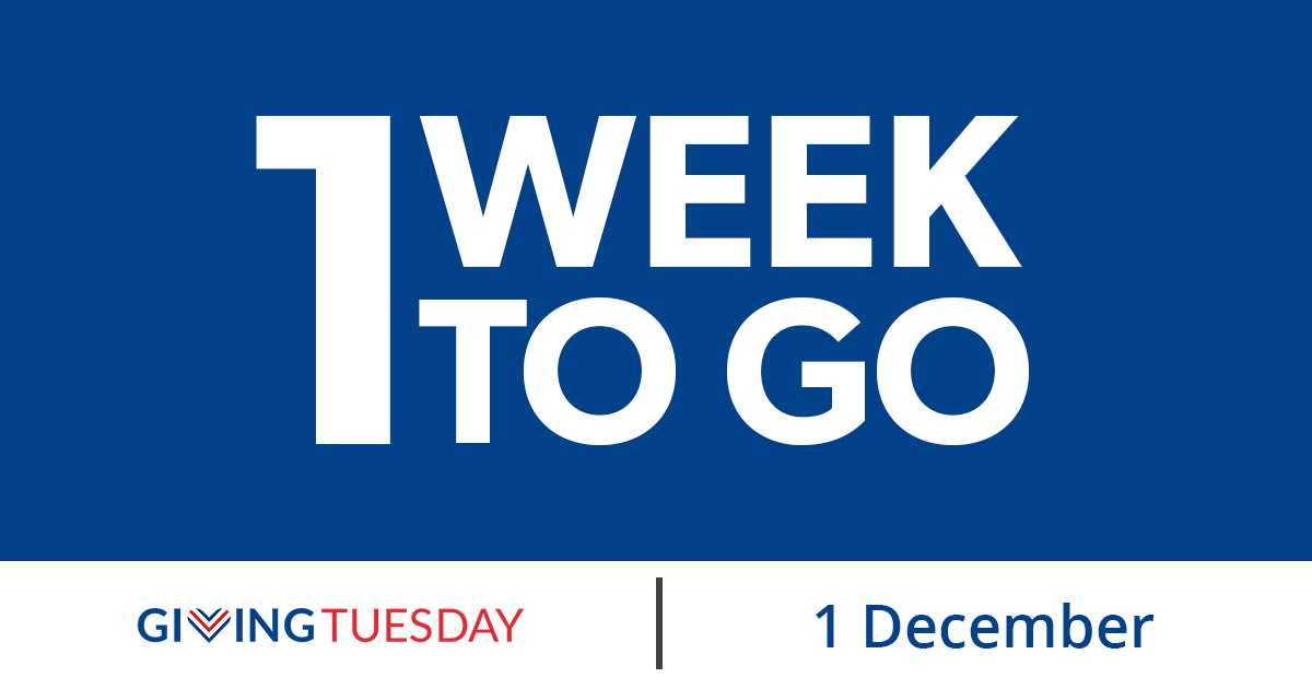 Save the Date: We are exactly 1 week away from #GivingTuesday on December 1st! APIA Scholars is proud to be a part of this global celebration of giving, and we hope you stay tuned to find out how you can involved!