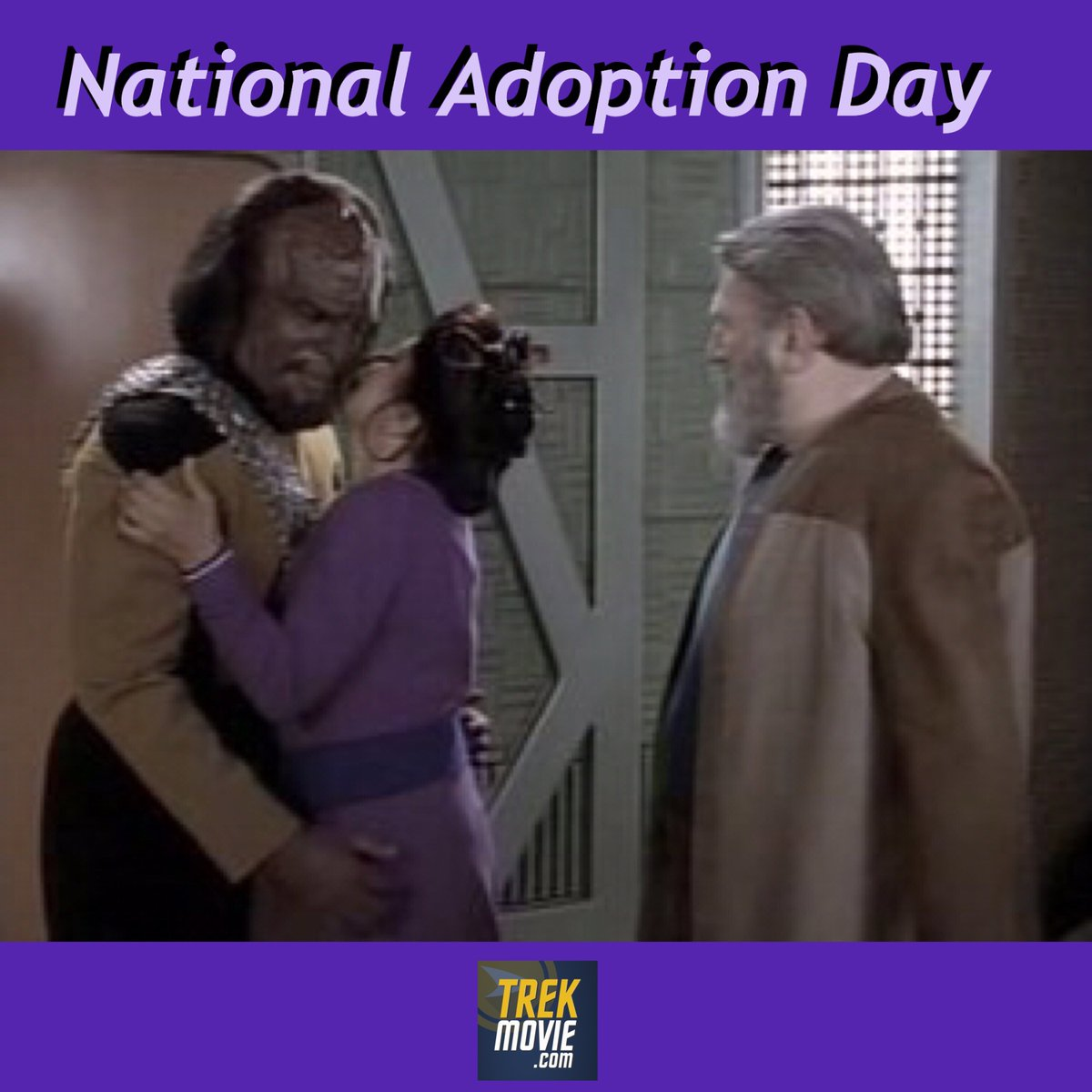 You don't have to be blood to be family.  #AdoptionDay #StarTrek
