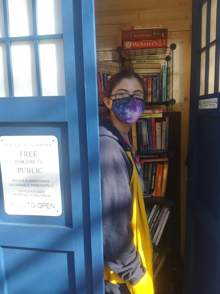 A Take a Book, Leave a Book library in my small town! #DoctorWhoDay