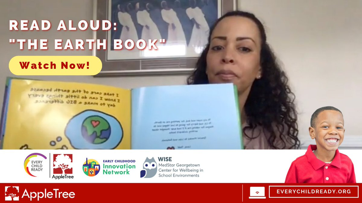"Read Along | Join Dr. Arvenita Washington Cherry as she reads ""The Earth Book"" to help us learn easy ways we can take care of Earth!   https://t.co/ZZPrAfX9Oy  #appletree #dc https://t.co/dSLIfMIA8M"