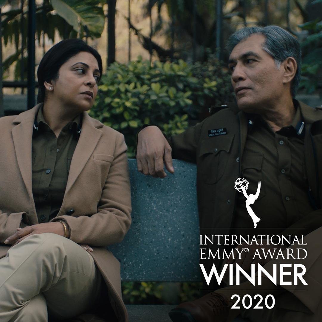 "The International Emmy for Drama Series goes to ""Delhi Crime"" produced by @GoldenKaravan / @skglobalent / @NetflixIndia, #India! #iemmys #iemmyWIN"