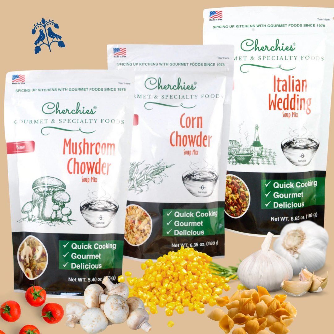 It's soup season ☺️🍲 Cherchies Gourmet Soup Mixes available on https://t.co/rPrP7QPt54 and in our retail stores. https://t.co/ra6vfYlsfC