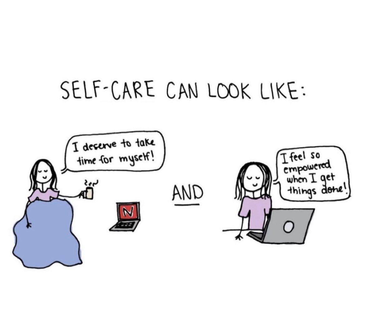 This is what I'm going to remember this week 👏🏻 For each of us, self-care looks different 🖤
