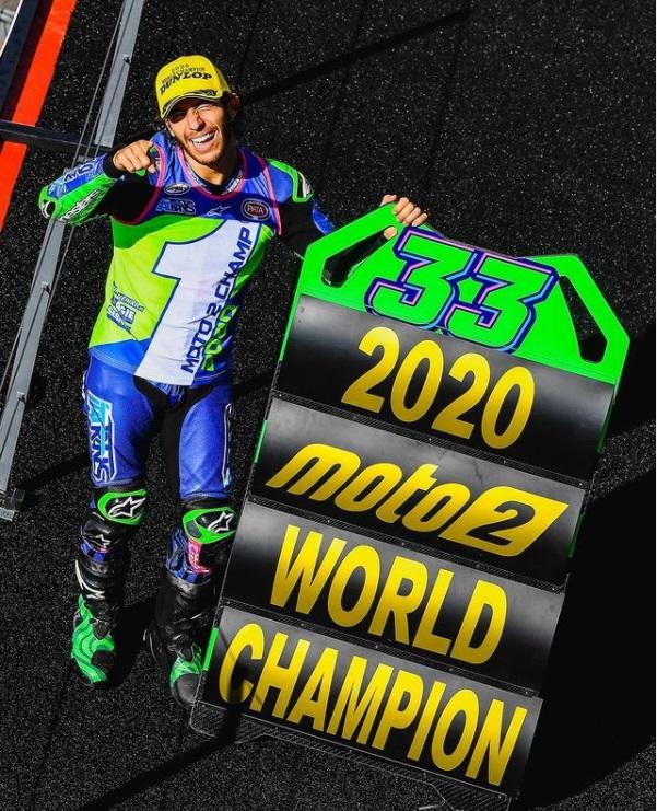 Con ustedes, Enea Bastianini de Kalex, flamante CAMPEON Mundial de #Moto2 2020 Algarve International Circuit #PortugueseGP #NewsMotoEC #MotoGP https://t.co/e11wCvuEeJ