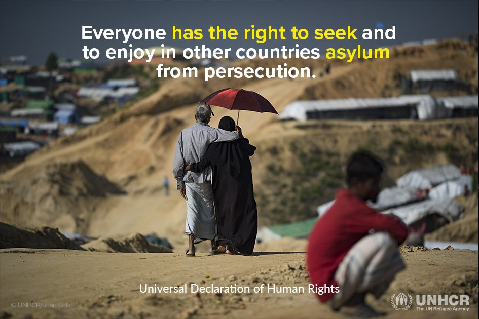 Human rights don't differ based on whether you seek safety by land, air or sea.  Everyone has the right to seek asylum.