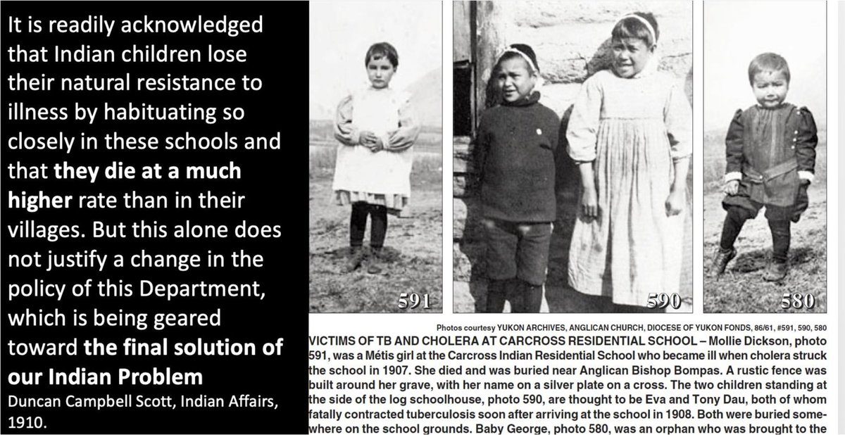 Here is the full quote from Duncan Campbell Scott and pictures of some of the children those reforms could have saved. Sadly, they and thousands of children like them died at the schools b/c Scott and Laurier refused to implement public health reforms.