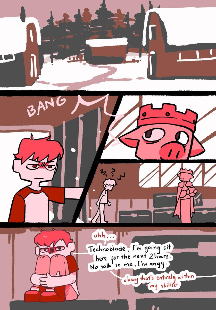 I swear I don't intentionally use red as the main color for my comics it just happens (1/2) #technofanart | #tommyinnitfanart | #wilbursootfanart