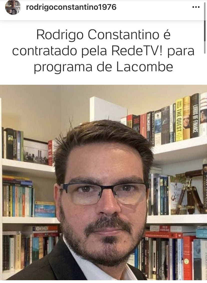 Bem-vindo @Rconstantino. O jornalismo da RedeTV segue contratando, investindo em qualidade e informação, mesmo num ano em que o setor de comunicação sente os efeitos da crise econômica deflagrada pelos coronalovers.
