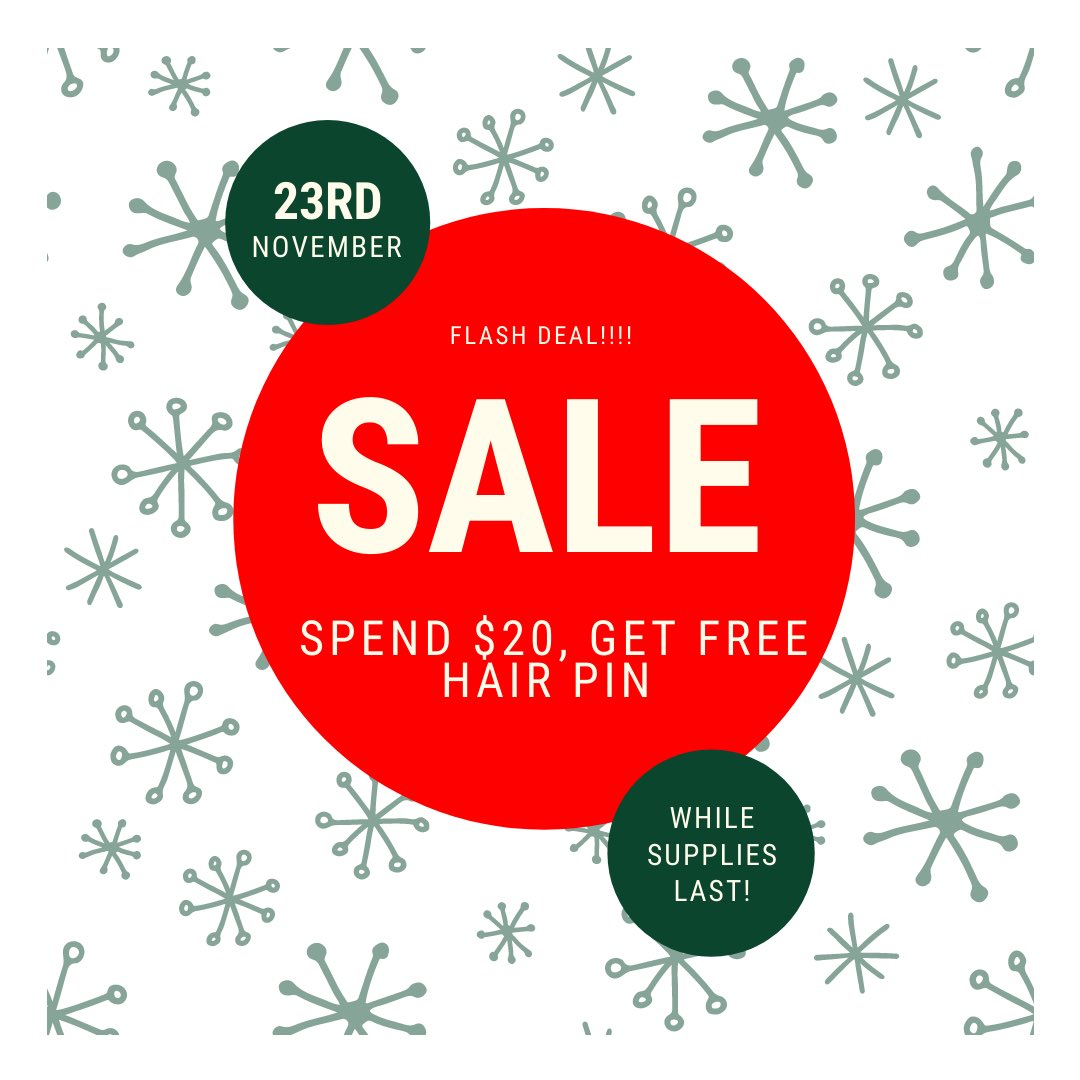 Do You Know What Today Is⁉️It's Day 1 Of Black Friday Week🎉 Today If You Spend $20, You Get 1 Free Hair Pin💁🏽♀️ (No Code Needed At Checkout)     #shopblackbusiness #BlackFridayDeals  #shopsmallbusiness  #supportwomenrunbusinesses  #SupportBlackOwnedBusiness