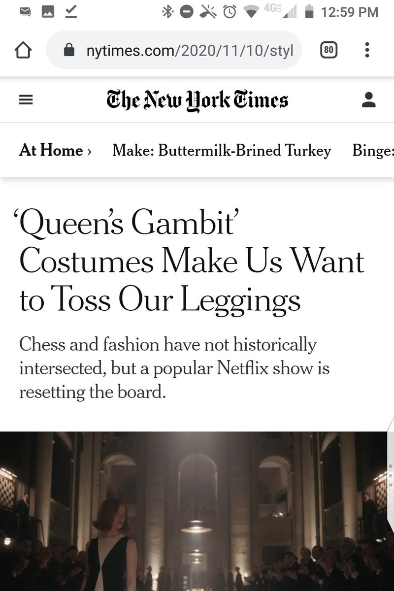 """Keep up the vitally important """"Queen's Gambit"""" coverage though https://t.co/ZxAWYZFC7S"""