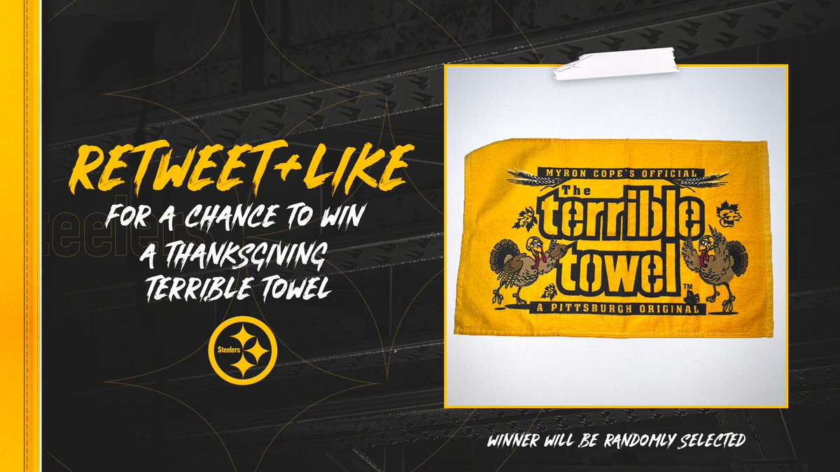 Gotta get ready for Thursday 💪  RT + like for a chance to win a Thanksgiving #TerribleTowel! 🦃