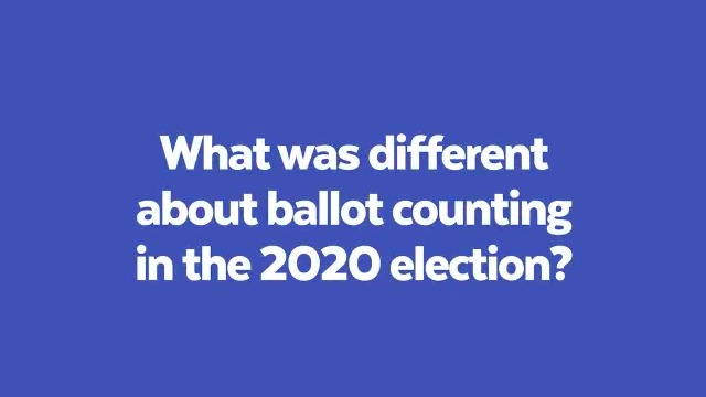 There are three main reasons why ballot counting was different this year, says @HarvardAsh's Miles Rapoport