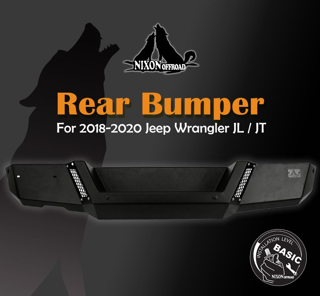 Upgrade your Jeep today with our Nixon Offroad 2018-2020 Jeep Wrangler JL Rear Bumper! This 🔥 Innovative Bumper 🔥 is made to look good while also providing great protection. 🙌 #nixonoffroad #jeep #jeeplife #jeeplove  #jeepwrangler #wrangler #4x4 #adventure #offroad #offroading https://t.co/6Lu66ilB4H