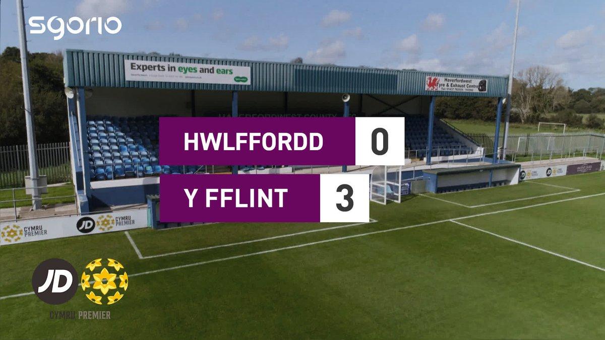 Image for the Tweet beginning: Uchafbwyntiau | Highlights  @HaverfordwestFC 0-3 @FlintTownFC