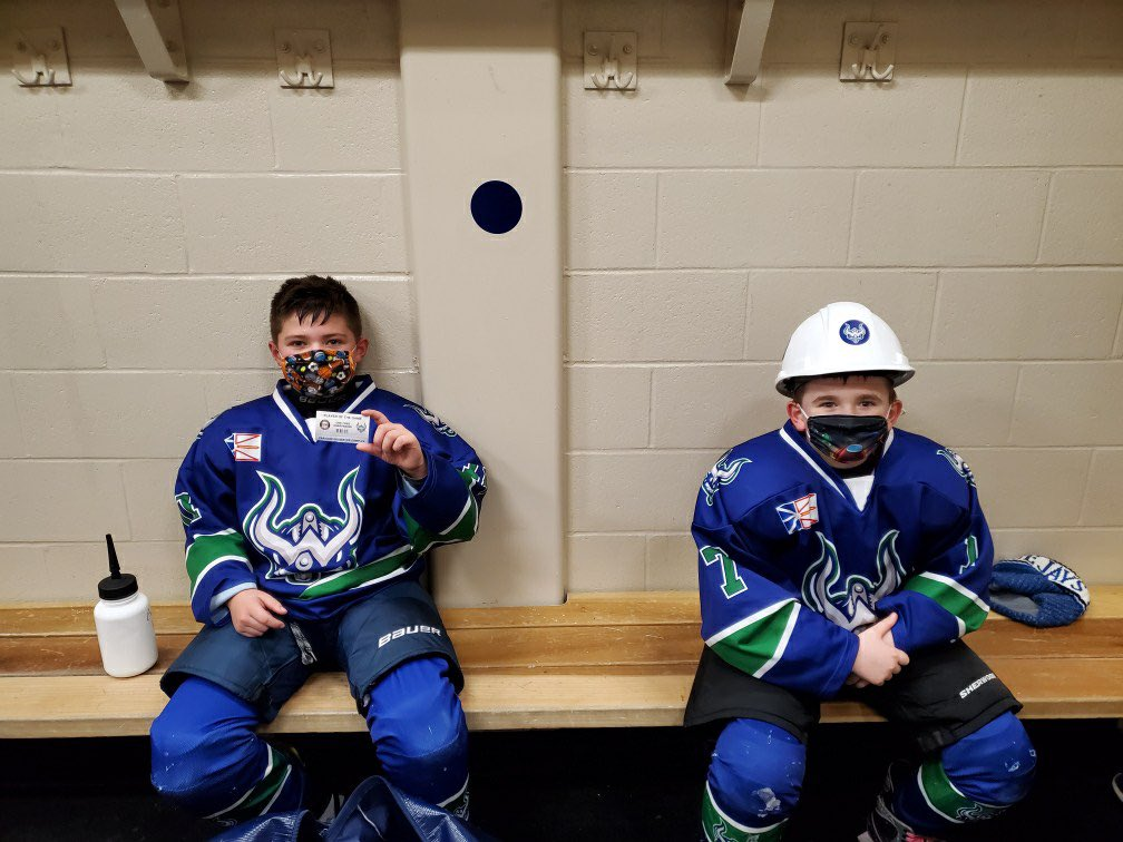 Our @customedgenl Player of the game tonight was Evan Layden, and the Hardest Worker was Cole Fitzgerald. Great work boys! @PmhaWarriors #GoWarriors