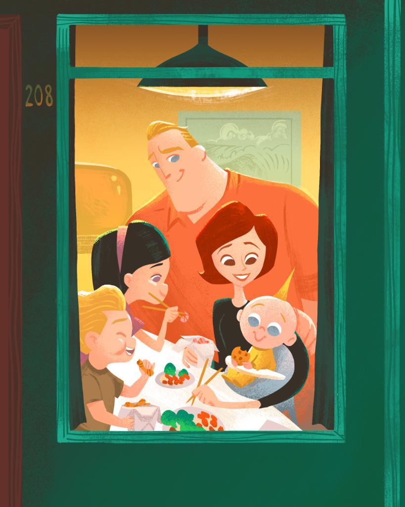 Dinner is served. Have a super Thanksgiving, Pixar fans!