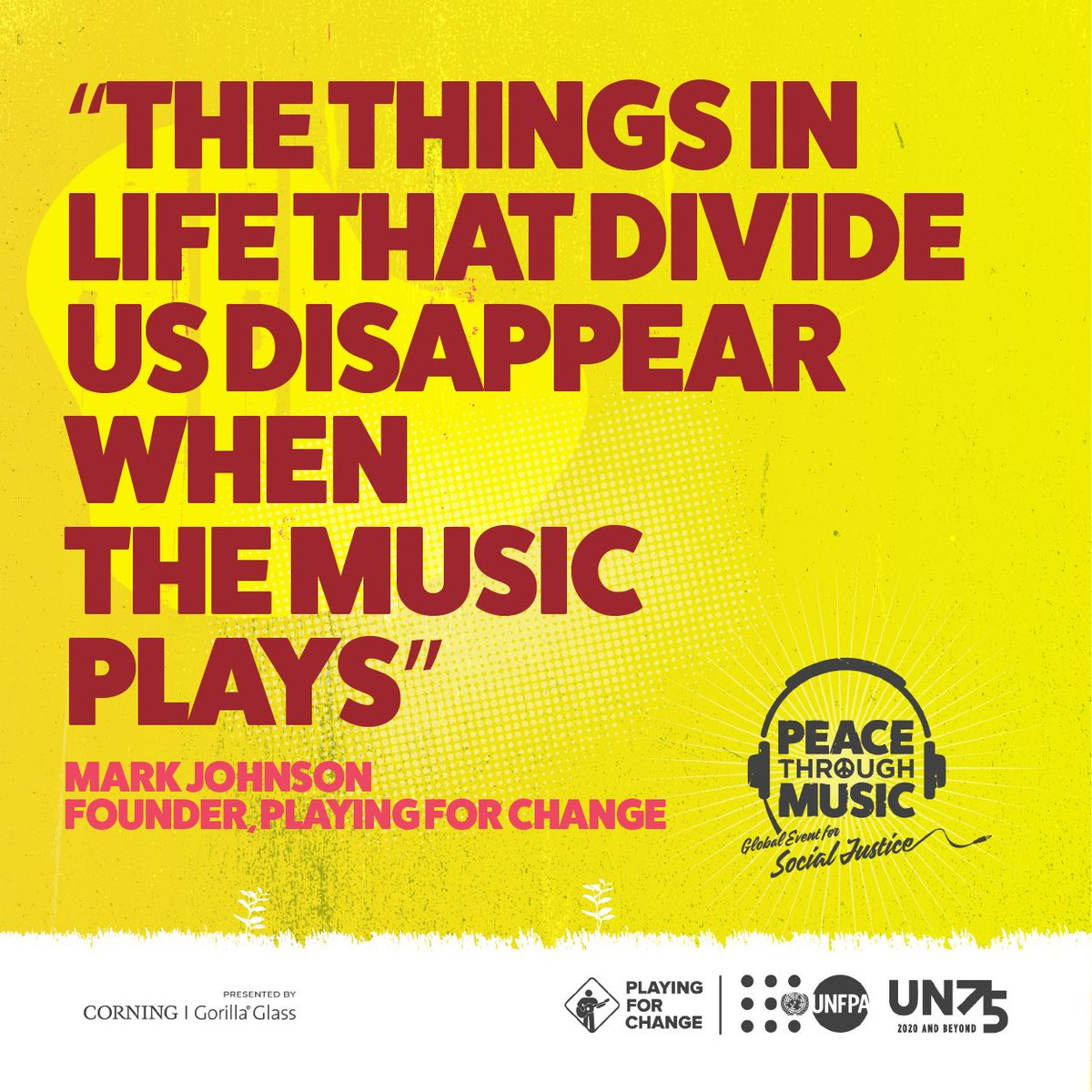 Now is the time to act and leave our differences behind!    On December 1st, join me and be part of #PeaceThroughMusic: a global event to inspire the world to act for peace and justice for everyone.      #LeavingNoOneBehind #GivingTuesday #Gibson #epiphone