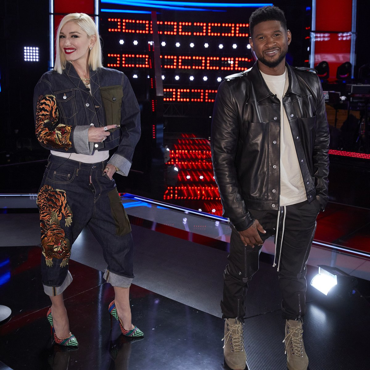 Replying to @NBCTheVoice: How do we get @Usher and @GwenStefani to be our dance partners? 🕺