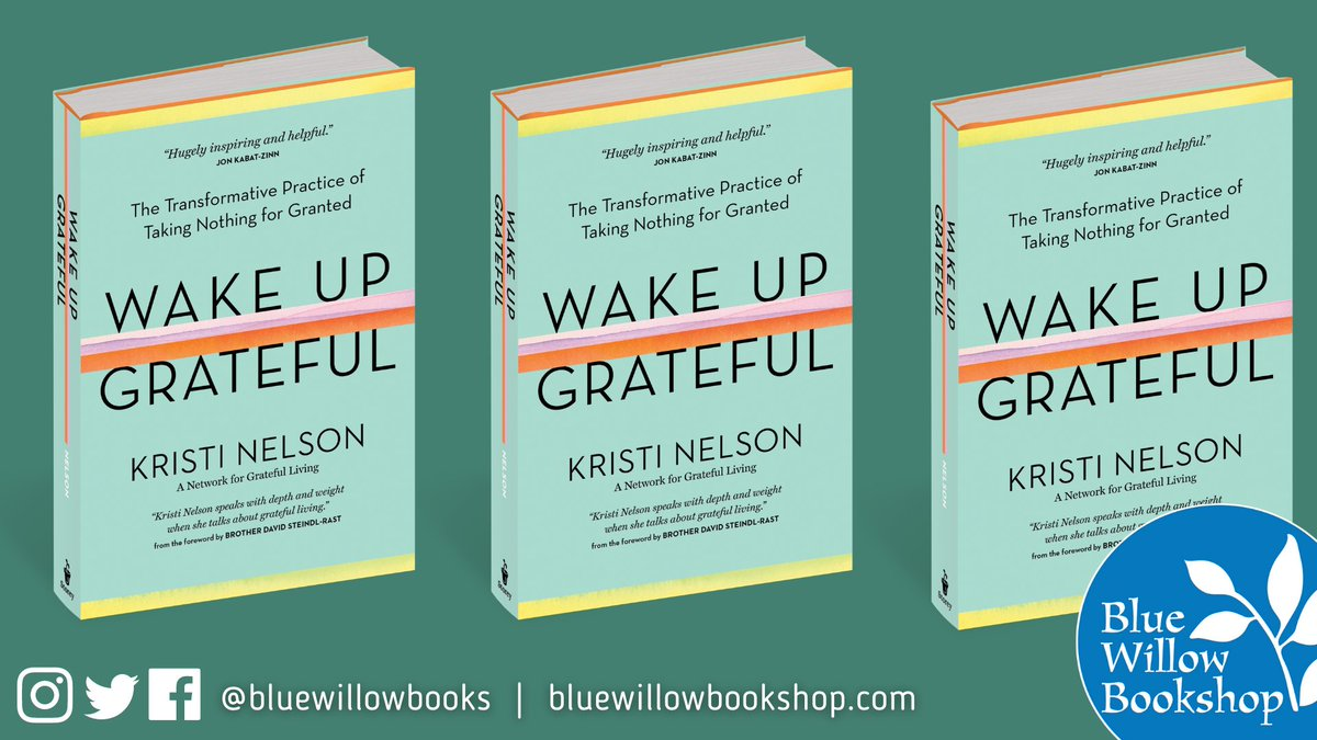 Tune in for an event on 12/2 with our @BWBGirlboss and bookstore owner friends John Evans of @DIESELBookstore & Sarah Bagby of @Watermarkbooks!   They will be joined by author Kristi Nelson to discuss her new book, WAKE UP GRATEFUL. Join us!  @WorkmanPub