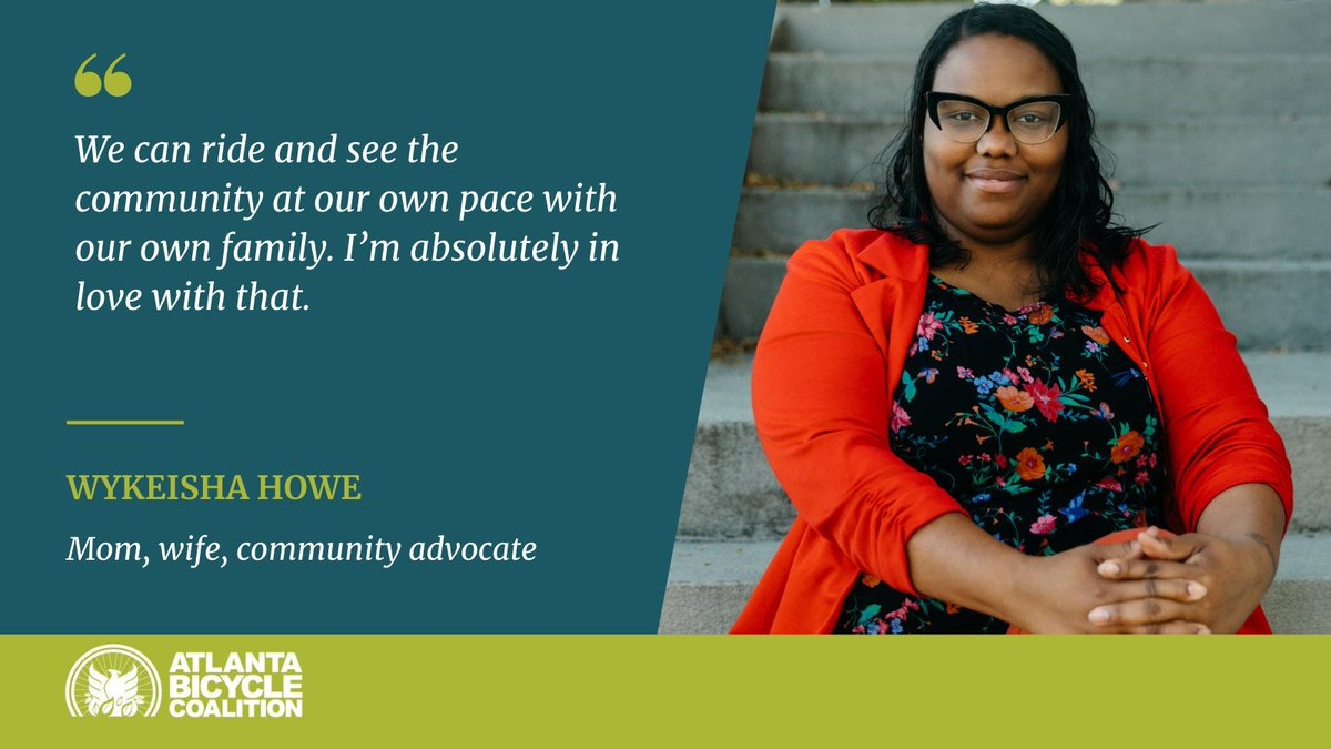 Meet Ms. Wykeisha Howe (@keishaforkids) — mother of 8, wife, native of Atlanta's historic Westside, and committed active transportation advocate.