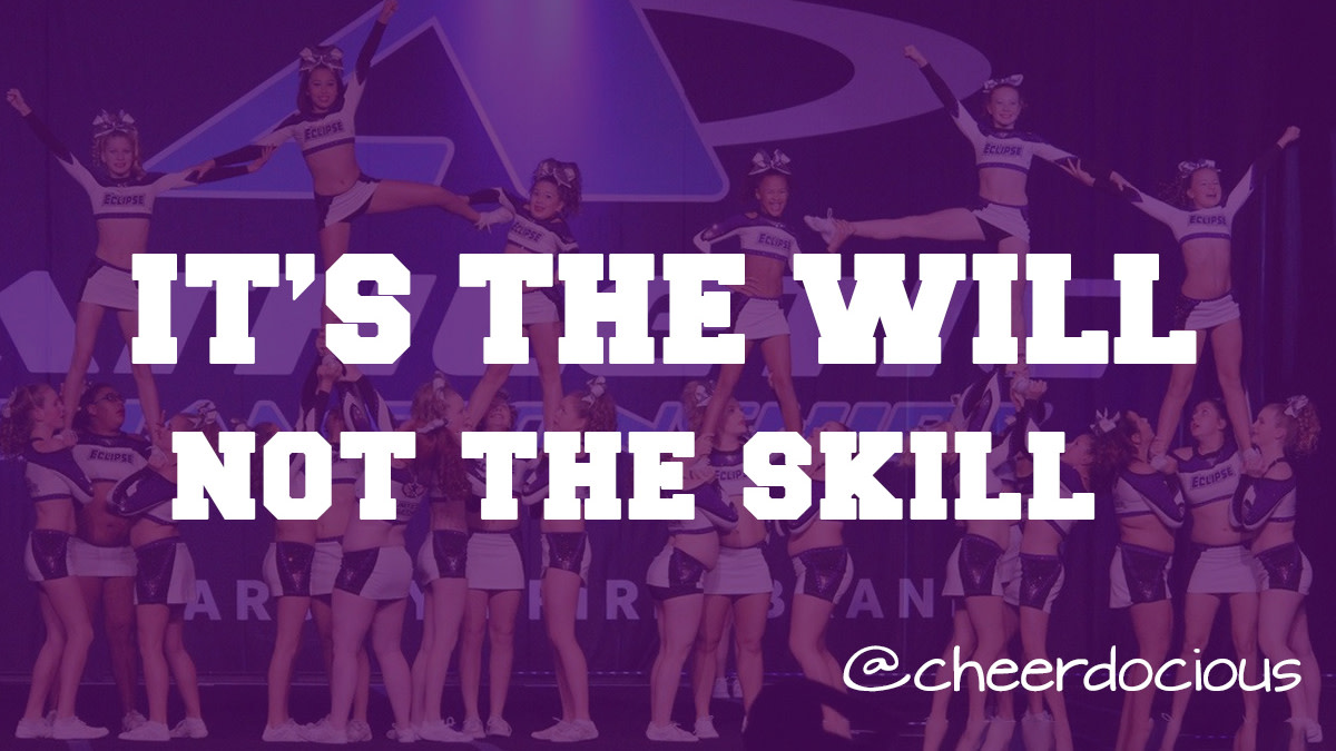 If you have the will to succeed, you will be successful.  It's all about the attitude and the will.  Bring it!  #mondaymotivation #cheerleading #allstarcheer