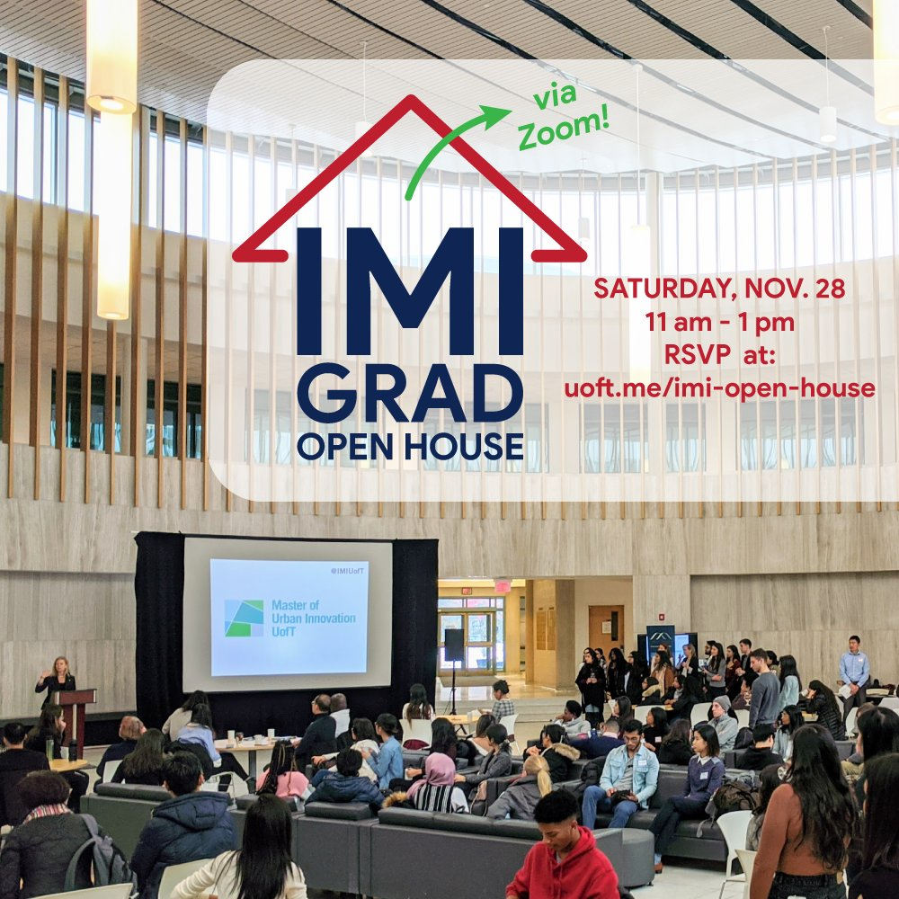 Interested in learning more about our professional graduate programs? Join us this Saturday for our 7th annual IMI Grad Open House! 💻👋 #uoft  RSVP:   Featuring: @MBiotech_News  @MMI_UofT  @UofT_MMPA  @UTMMScSM  @MScBMC  @MUI_UofT