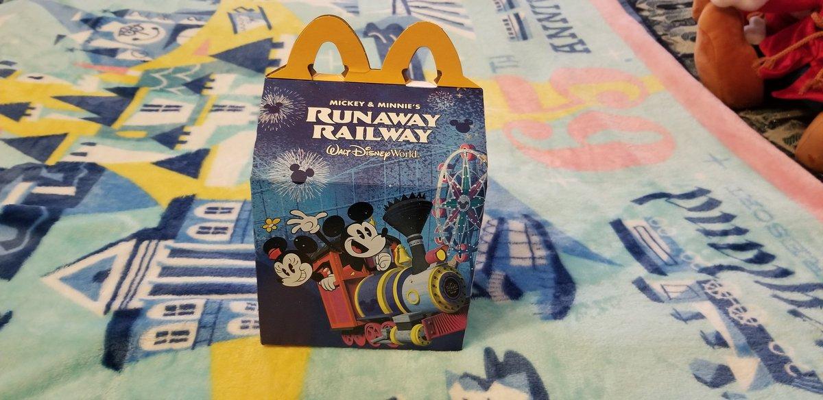 Guess What I Got From McDonald's Today! It's A McDonald's Happy Meal Featuring Mickey And Minnie's Runaway Railway At Walt Disney World! #McDonalds #HappyMeal #HappyMealToys  #MickeyAndMinniesRunawayRailway  #MouseRulesApply #MickeyMouseShorts #PaulRudish #D23 #Disney #WaltDisney