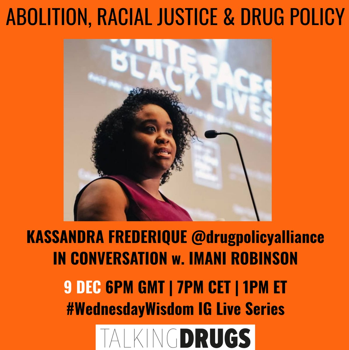 Exec Dir, @Kassandra_Fred will join @defund_abolish of @Release_drugs in their series on Abolition, Racial Justice & Drug Policy. Join 12/9 @ 1pmEST on Instagram Live! #WednesdayWisdom #NMDW #DrugPolicy #Abolition #RacialJustice #Decriminalization #EndTheWarOnDrugs