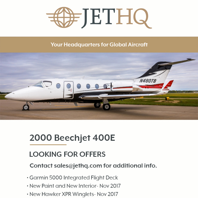 2000 #Beechjet #400E ready to deliver at @JetHQAv    New paint and new interior Fresh hot sections - Jan 2020 More details at: https://t.co/Kv1uDUWbuu  #bizjet #bizav #aircraftforsale #privatejet #privateflying #jetforsale #businessaviation
